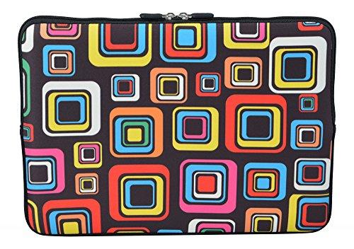 MySleeveDesign Laptoptasche Notebooktasche Sleeve für 10,2 Zoll / 11,6-12,1 Zoll / 13,3 Zoll / 14 Zoll / 15,6 Zoll / 17,3 Zoll - Neopren Schutzhülle mit VERSCH. Designs - Square Brown [11-12] -