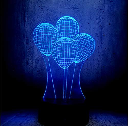 3D LED Luftballons Nachtlicht Touch Dimmer Party Decor 7 Farben ändernde Freundin Geschenk USB