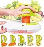 Oval Mandoline Food Slicer, Cutter & Julienne Slicer by Harcas. Best for Slicing