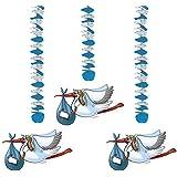 Wirbel-Deckenhänger Klapperstorch 3er Pack