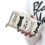 VJGOAL Damen Brieftasche, Hohe Qualität Frauen Reißverschluss Katze Clutch Wallet Lange Kartenhalter Geldbörse Handtasche