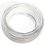 CCA Câble de Haut-Parleur Blanc 2 x 0,5 mm2 25 m