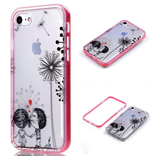 Apple iPhone 8 4.7 Hülle, Voguecase Schutzhülle / Case / Cover / Hülle / 2 in 1 TPU Gel Skin (lächelndes Gesicht 02) + Gratis Universal Eingabestift Klein Liebhaber 10