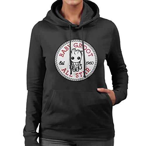 Guardians Of The Galaxy Baby Groot All Star Converse Women's Hooded Sweatshirt All-star-pullover