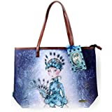 Miss Peacock - Large Shopper Bag with Zipper By Mirabelle