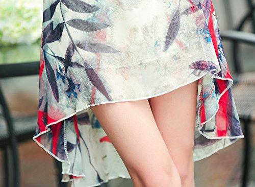 sexylady - Robe - Robe - À Fleurs - Sans Manche - Femme - leaves