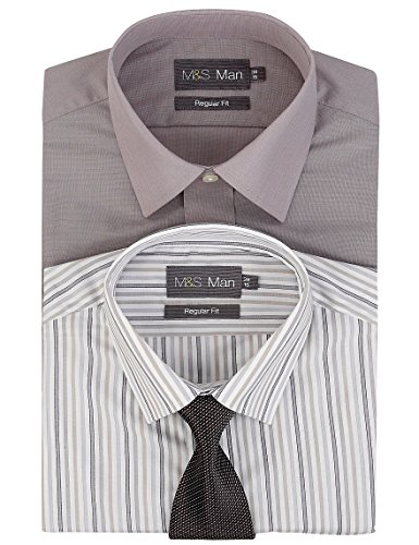marks-and-spencer-camisa-formal-para-hombre-gris-gris-mix-pecho-91-cm