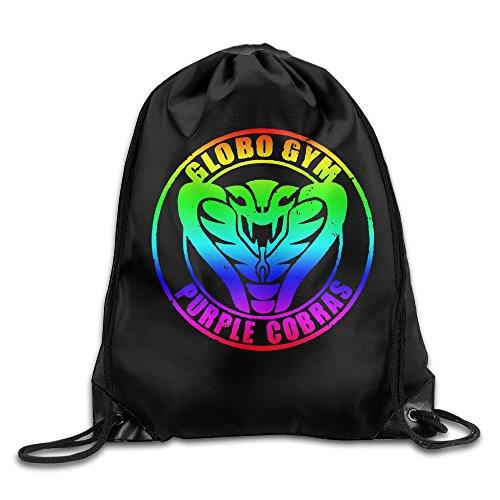 SAXON13 Unisex Funny Globo Gym Purple Cobras Drawstring Shoulder bag(Zaini)