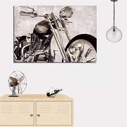 adgkitb canvas Stampa murale in Stile Natura Morta su Tela Moderna Moto Pop Art Decorazione cameretta 40x60cm No Co