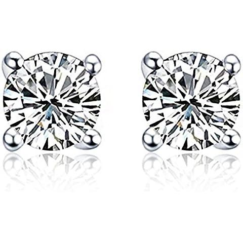ZWX orecchini calamita diamante della moda uomo/ orecchini coreana zircone/ Clip auricolare/ Nessun trafitto orecchini (Ciondolano Clip)