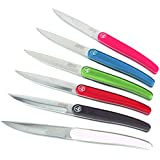 Laguiole Evolution 445386 Intuition Couteau d'office Acier Inoxydable/ABS 6 Couleurs Panachées 23,3 x 2,4 x 1,8 cm