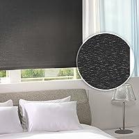 casa pura® Sichtschutzrollo - lichtdurchlässig - für breite Fenster in fünf Größen | Schwarz | 120x230cm