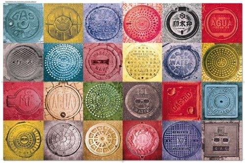 Preisvergleich Produktbild 5675 - Piatnik Puzzle - Manholes/Schachtdeckel, 1000 Teile
