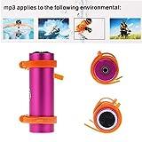 smartera® 4GB Wasserdicht Unterwasser MP3+ FM Radio Anzug für Schwimmen, SPA, Surfen, Joggen, Klettern und andere Sport (Pink)