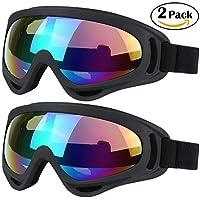 Gafas de esquí, protección UV, a prueba de viento, antirreflejos