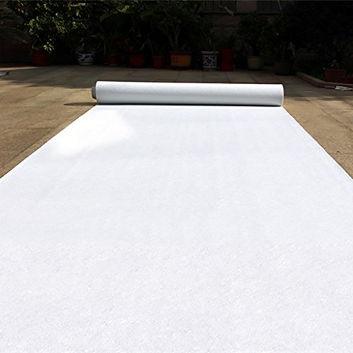 Wenzhe carpet tappeto tappeti e tappetini moquette monouso bianca matrimonio in stile occidentale palcoscenico non tessuti spessore 1,5 / 2mm 4 larghezze la lunghezza può essere personalizzata ( dimensioni : 1.2m*20m*1.5mm )