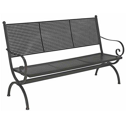 MBM Gartenbank Romeo 3-Sitzer Schmiedeeisen Marone antik