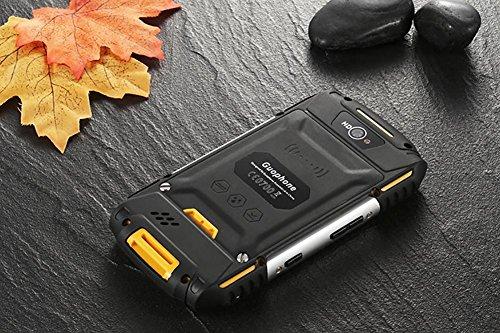 4 Zoll Militär Draußen Wasserdicht Staubdicht Erdbeben Andrews Smartphone Quad-Core 1 + 8G Bluetooth WIFI Mobiltelefon , yellow
