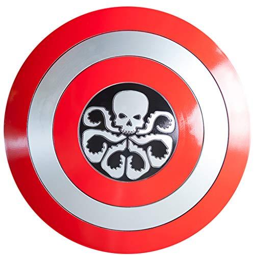 QWEASZER Marvel Avengers 1: 1 Captain America Schild Metall Textur ABS Schild Captain America Kostüm ABS Schild Adult Film Requisiten,B-57cm
