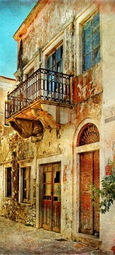 Affiche de porte Motif balcon dans le Sud, Vacances dans la Grèce 93x 205cm
