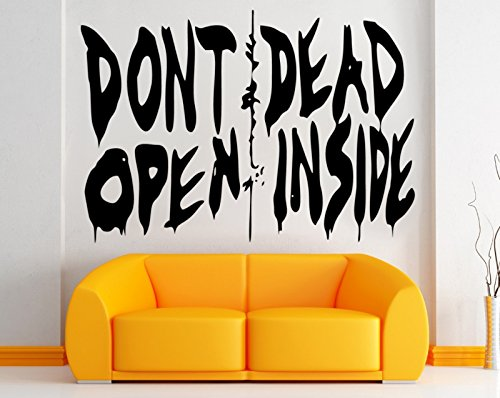Pared Adhesivo Dont Open Dead Inside, vinilo, negro, pequeño