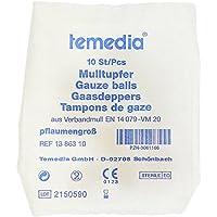 Mulltupfer Pflaumengroß Steril, 10 St preisvergleich bei billige-tabletten.eu