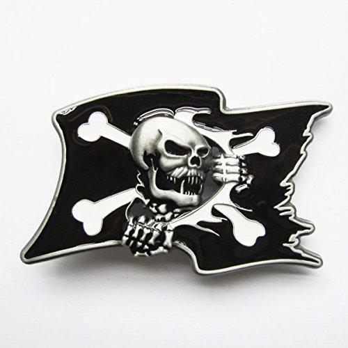 Boucle ceinture pour lanière universelle Tête de mort drapeau pirate
