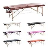 H-ROOT 2 Zonen Leichte Tragbare Massage Tisch Couch Bett Sockel Therapie Tattoo Salon Reiki Heilende Schwedische Massage mit Kostenlosen Tragetasche 12.8KG (Rotwein) …