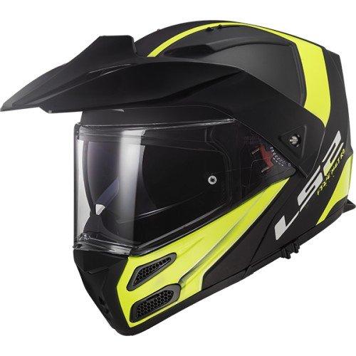 LS2Casco Moto Metro Evo Rapid mate negro amarillo-M
