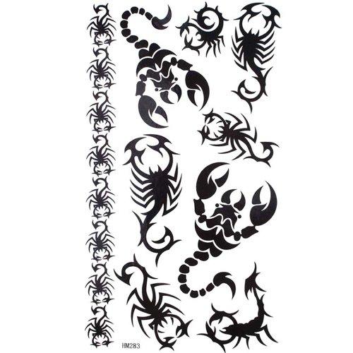 re-black-horse-totem-sexy-scorpione-adesiva-di-tatuaggio-impermeabile-all-acqua