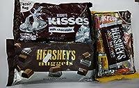 Hershey's Combo Gift Pack of 3 (Hershey's Miniatures 340g, Hershey's Nuggets Milk Chocolate 340g, Hershey's Kisses Milk Chocolate 340g)