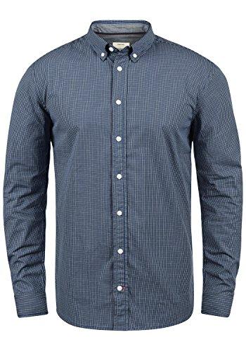 Redefined Rebel Macklaren Herren Hemd Shirt mit Button-Down Kragen Aus 100% Baumwolle, Größe:L, Farbe:Navy (Kurzarm-arbeitshemd Button-down)