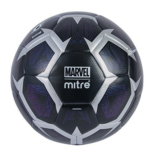 Mitre Panther - Balón de fútbol para niños, Color Negro y Plateado, 5 Unidades