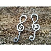 MUSIC. Orecchini in alluminio martellato, anallergici