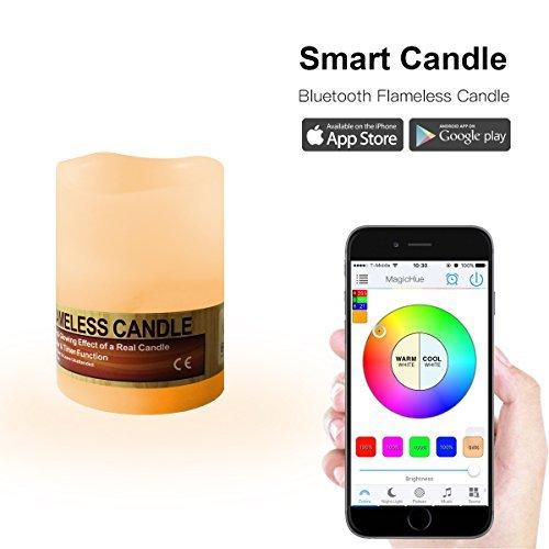 MagicHue Nuovo Colorato Lampadina LED Smart Bluetooth lampada E27e E2616mio colori per Android e iOS (Candle light)
