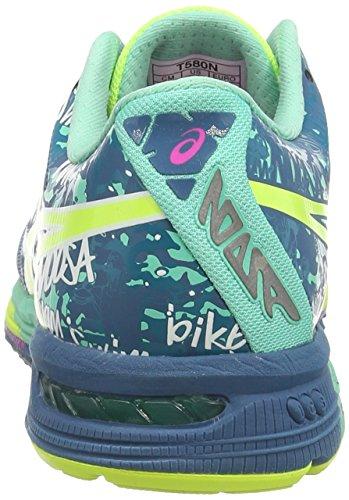 ASICS Gel-Noosa Tri 10 - Scarpe da corsa da donna Blu (Mosaic Blue/Flash Yellow/Pink 5307)