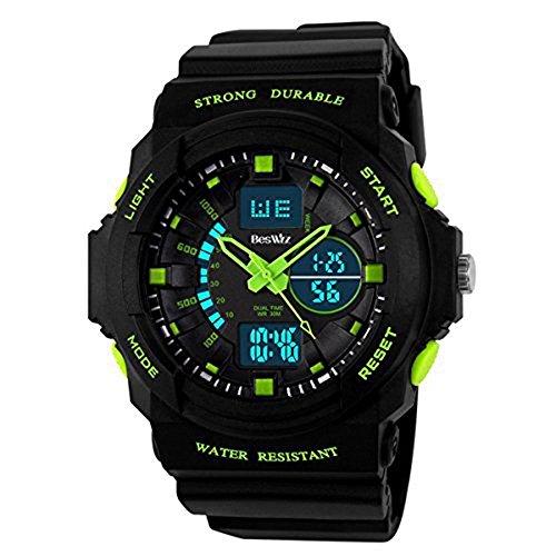 DAYAN Digital elektronische Außen Handgelenk-Sport-Uhr-LED Digital 50M wasserdichte Außen Sport Digital-Armbanduhr für 10-20-Jährigen Kinder Teens Jungen Mädchen Grün