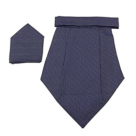 Jacquard Poly Satin Hommes Foulard Ascot Cravat Tuxedo Party Couture Tie