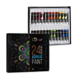 Sure Colour Art Lot de 24 tubes de peinture acrylique 12 ml
