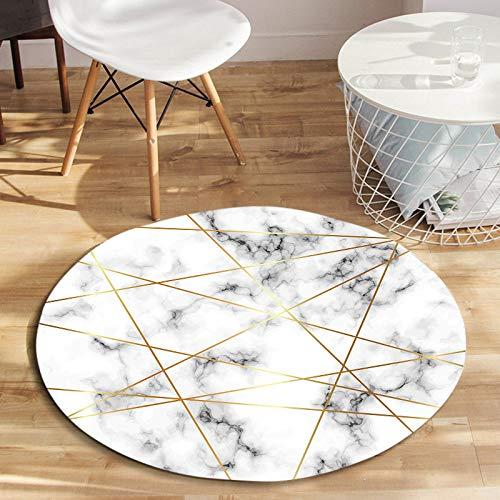 SMAQZ Nordic Geometrische Runde Teppich Wohnzimmer, Couchtisch Matte, Kreative Marmor Schlafzimmer Stuhlmatte C Durchmesser 120 cm -