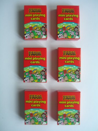 6 Packs of FARM (Animals) Mini Playing Cards {Party/Loot Bag Toys} by PARTY BAG TOYS