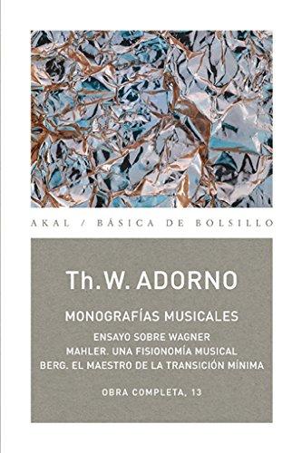 Monografías musicales (Básica de Bolsillo) por Theodor W. Adorno