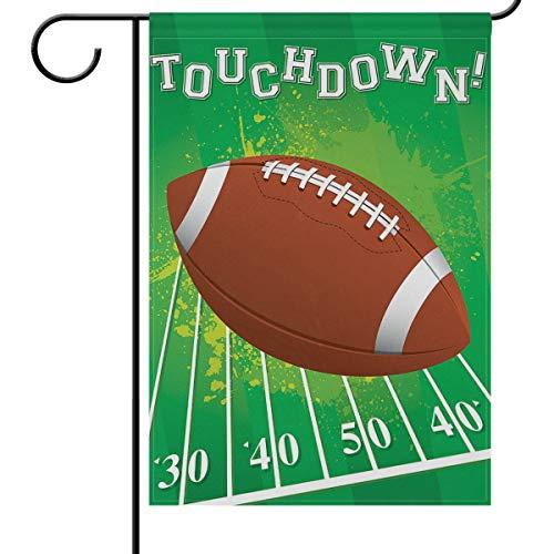 American Football Garden Flag House Banner, 30,5 x 45,7 cm, kleine Mini-Dekoration, doppelseitig, Willkommenshof-Flaggen für Urlaub, Hochzeit, Party, Zuhause, Außendekoration, Textil, multi, 28x40(in)
