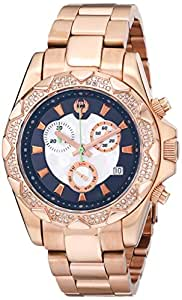 Brillier Women's 14-05 Analog Display Swiss Quartz Rose Gold Watch