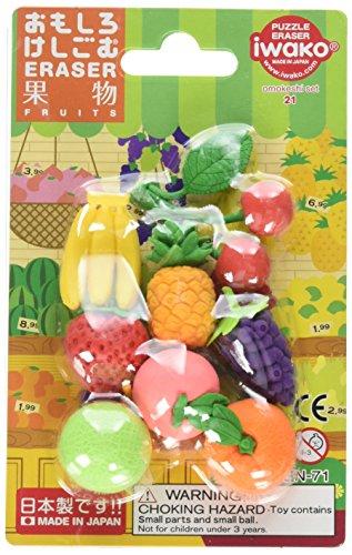 Frische Früchte Iwako japanischen Radierer Blister Set