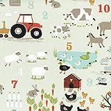 Textiles français Baumwollstoff | Lerne Zählen auf dem