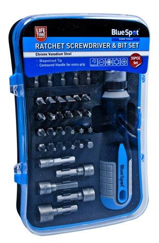 Blue Spot 12618Ratschen-Schraubendreher und Bit-Set (35Stück) - 2pce Set