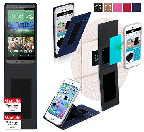reboon Hülle für HTC Desire 816 Tasche Cover Case Bumper | Blau | Testsieger