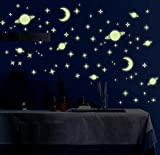 #7: Jaamso Royals 'Radium Galaxy of Stars' Glow in Dark Sticker (PVC Vinyl, 21 cm X 29.7 cm, Ceiling Decor Stickers)