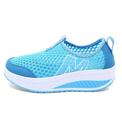 Zapatos de Mujer Andar Deporte Zapatilla de Deporte (EUR 36, Azul)